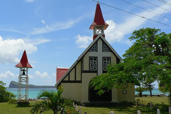 Cap Malheureaux popular red roof church
