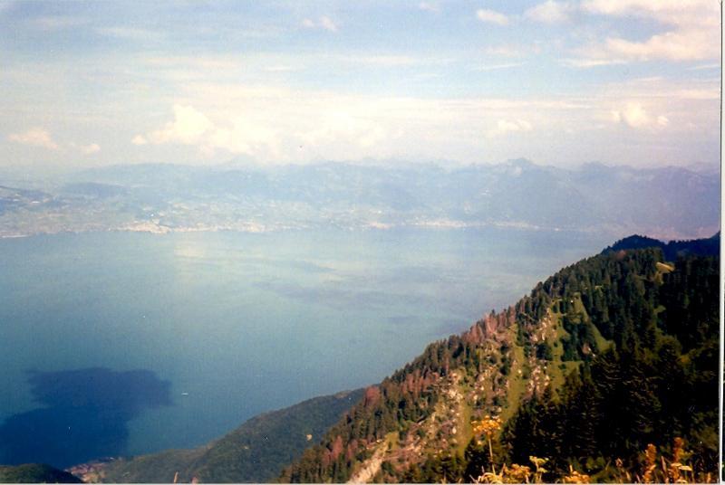 View down the mountain