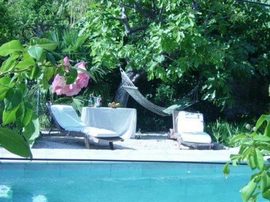 Poolside lounging in an idealic environment