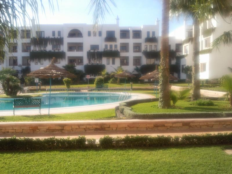 View of pool from private terrace