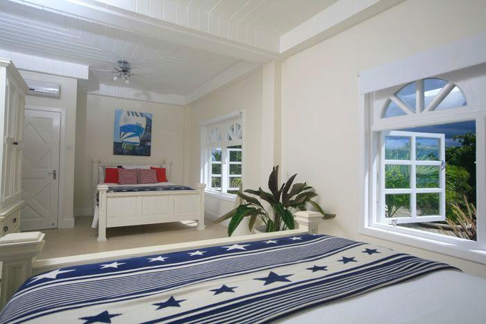 Spacious bedroom with 2 x queen size beds and ensuite