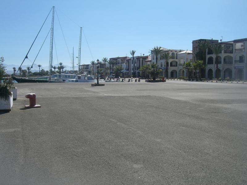 Marina front with restaurants and shops