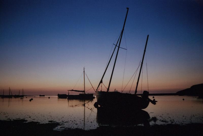 Sunset at the Parrog, Newport, Pembs