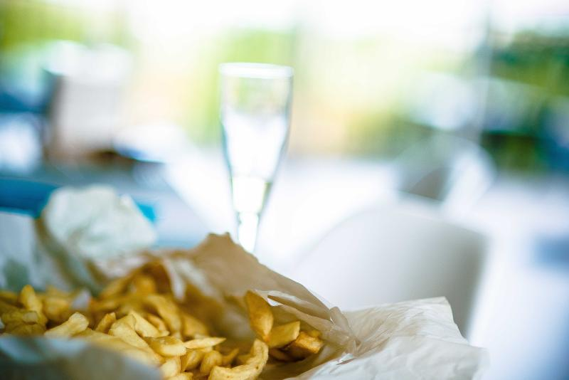 Fish 'n' Chips (even better with a bottle of Bubbly!)