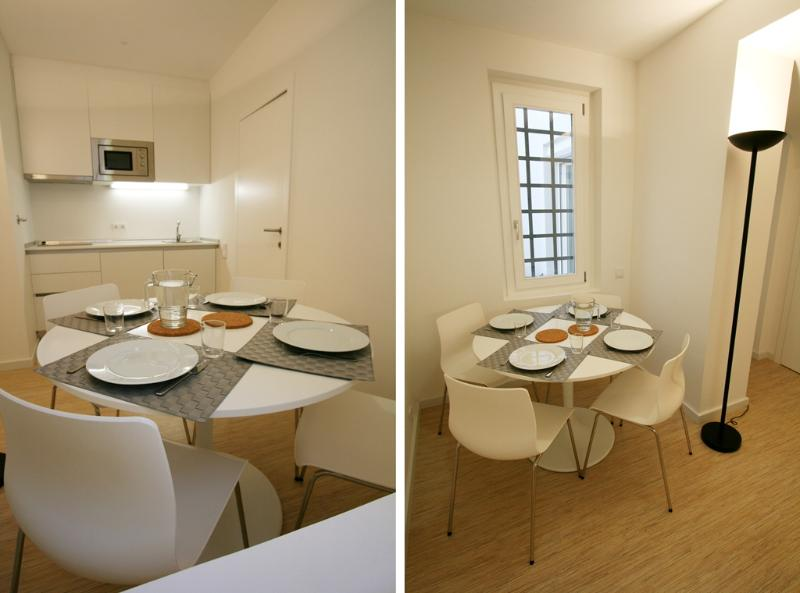 Pateo Apartment - Open kitchen and dining room