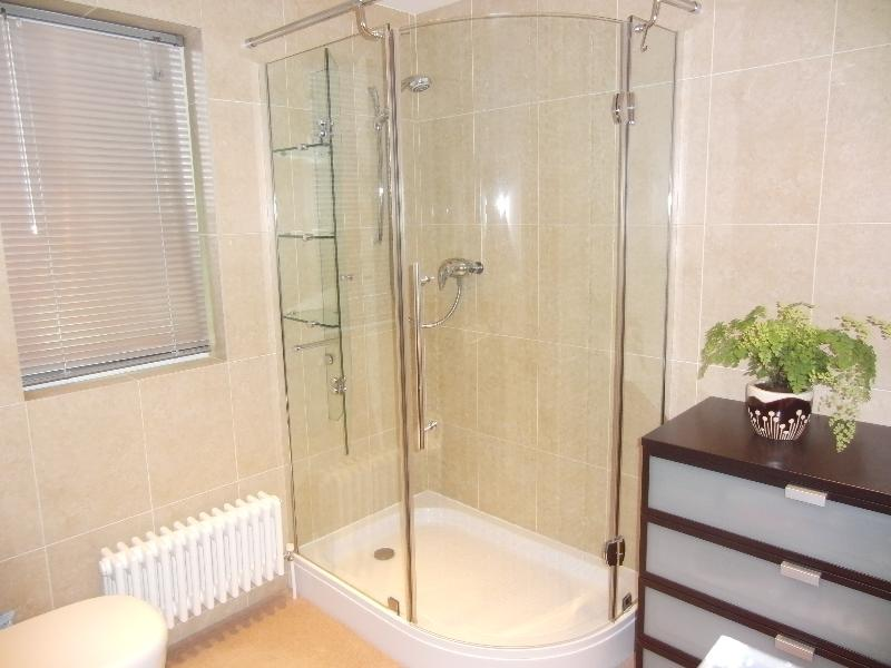 Double glass fronted shower