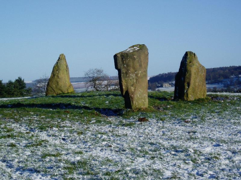 The stone circle, a short walk away