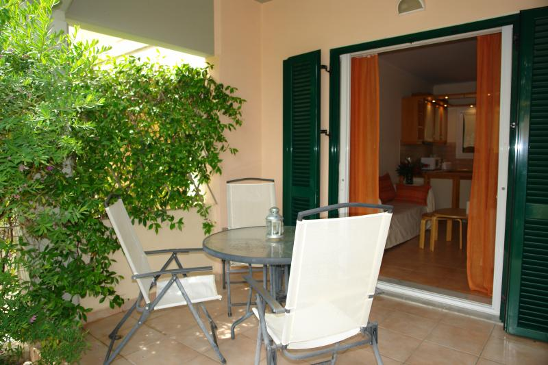 The verandah out of the sitting room