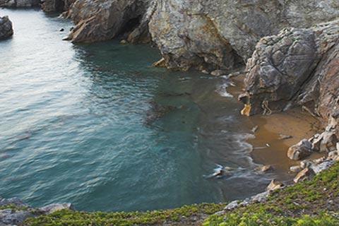 Quiberon's rocky coast