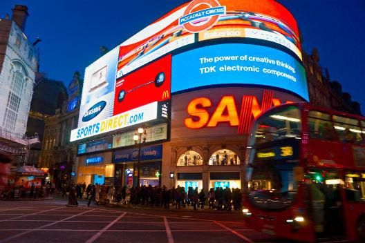 Piccadilly Circus by night - just minutes from the apartment