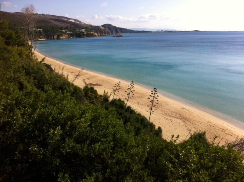 Praia de Makrys Gialos (long Beach)