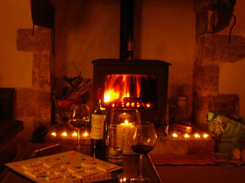 A cosy way to spend a winter evening at Keriou...