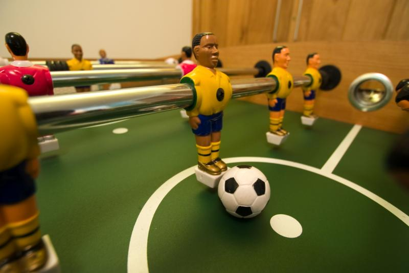 Enjoy a game of table football!
