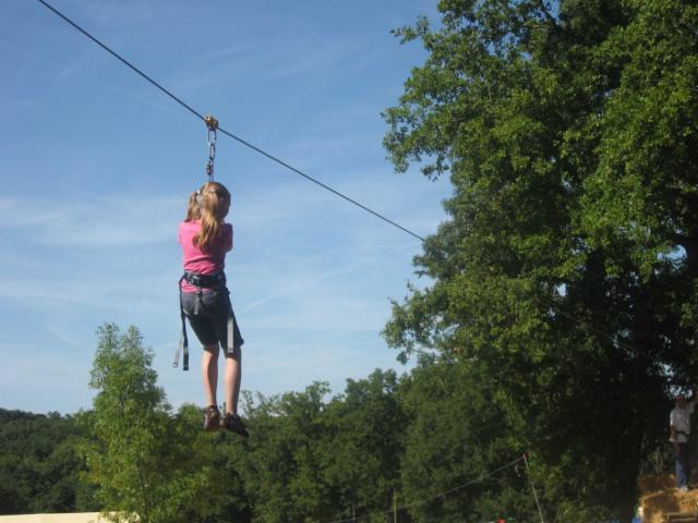 Zip lining at Indian Forest Park