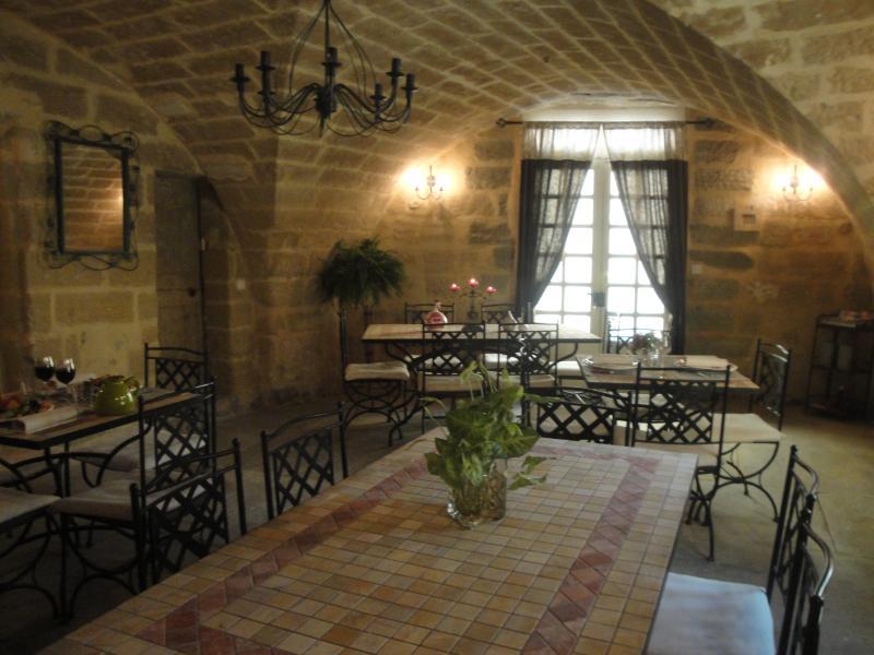 A sala do restaurante