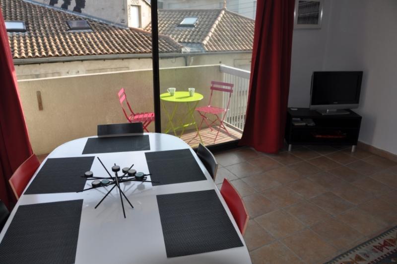 le salon et le balcon - living aud terrace