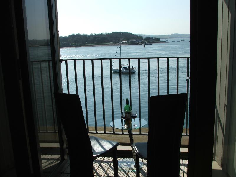 Amazing view from the balcony! Perfect to sit and watch the boats go by.
