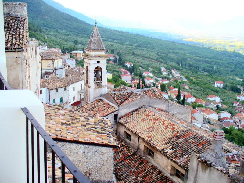 The village viewed from the roof terrace