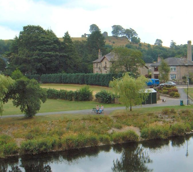 River view from Lounge window towards Gooseholme Park and KendalCastle