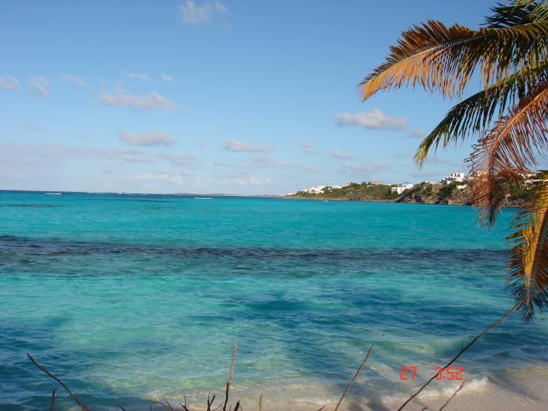 Beautiful colours of the caribbean sea