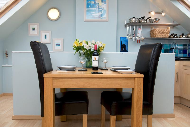 Holiday apartment dinning area