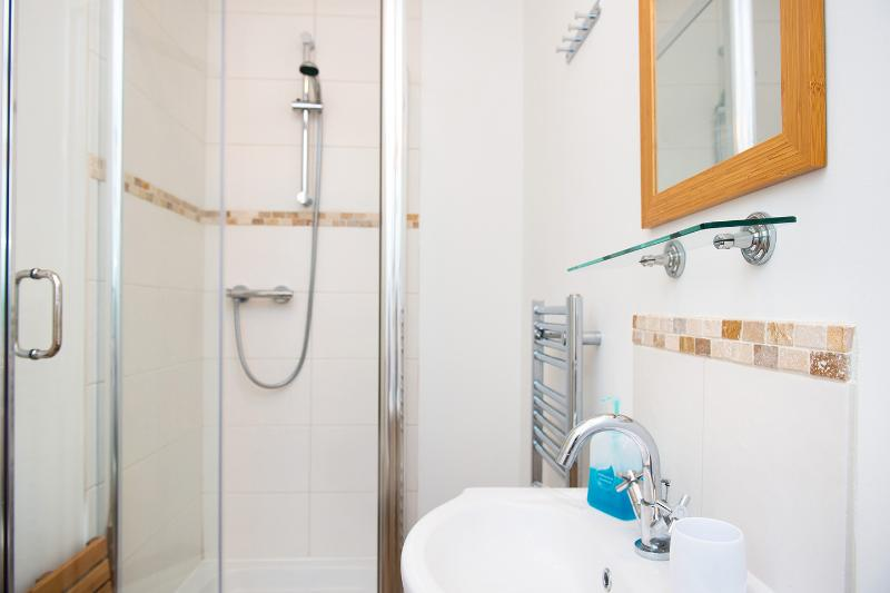 Private heated shower rooms for each yurt