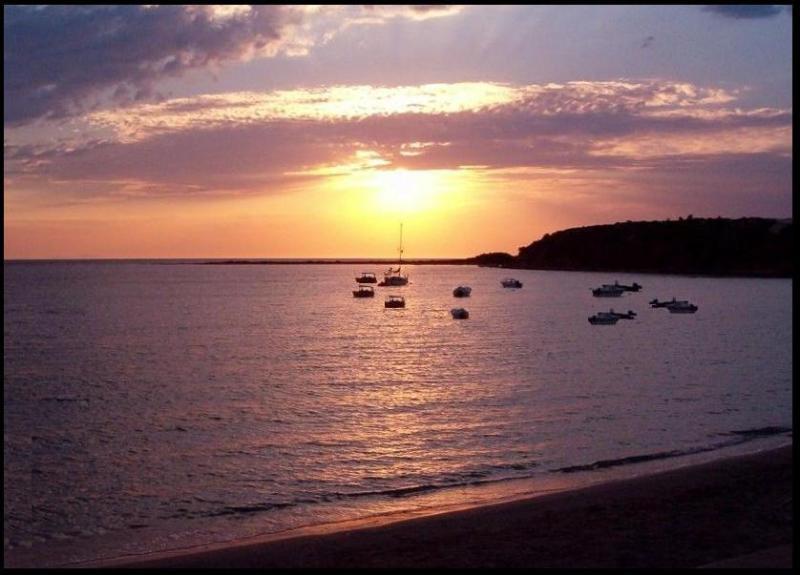 beautiful sunset by the beach