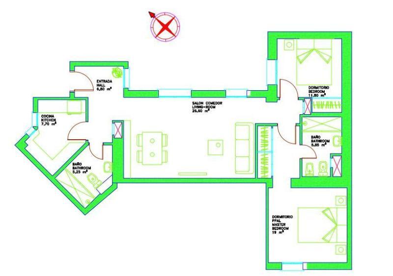 Carte de l'appartement