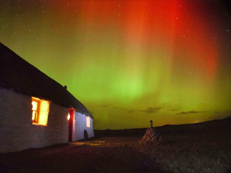 Keep a look out for the Aurora Borealis (no guarantees though!)
