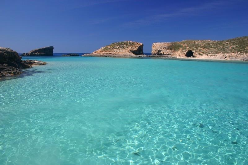 Blue lagoon beach - just 10 to 12 minutes walk and 8 minutes by boat to Comino island.