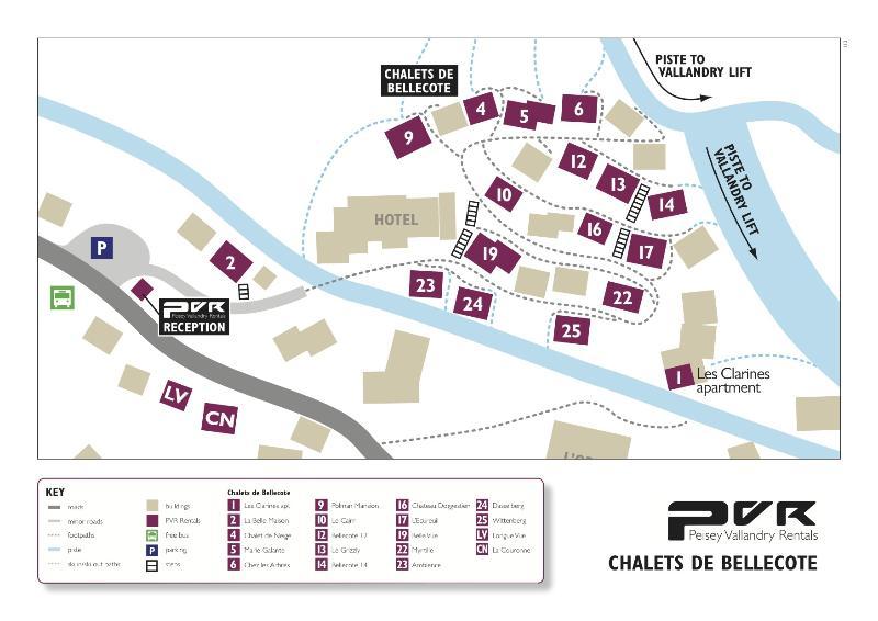 Map of Bellecote Chalet Park