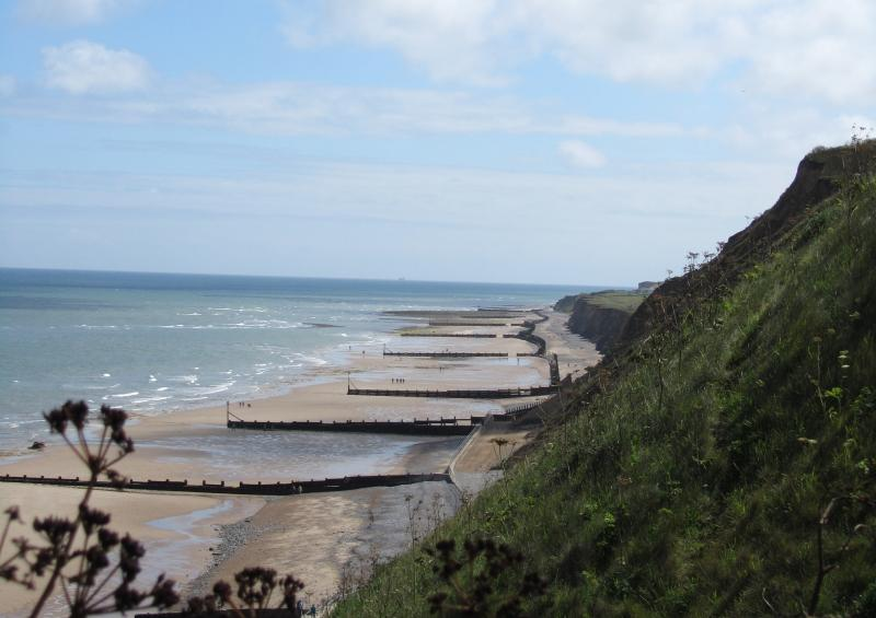 Nearest beach is at Mundesley 3 miles