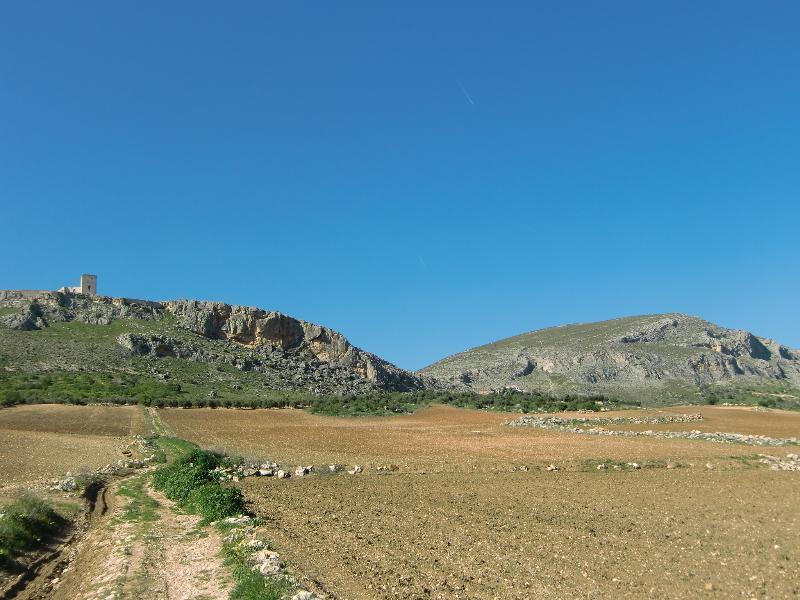 La Calera and Castle in the distance