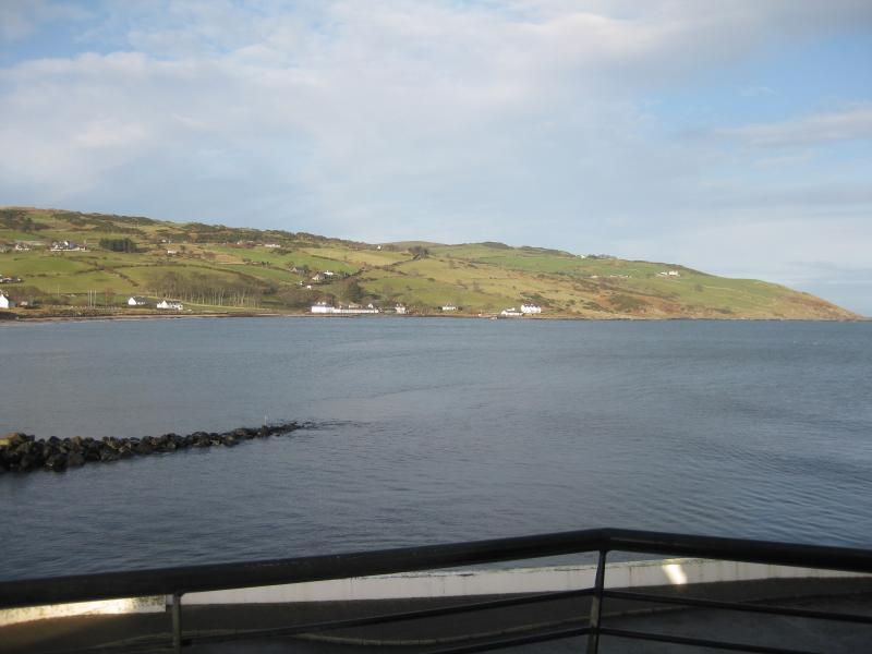 View from the balcony of the North Channel and the Mull of Kintyre