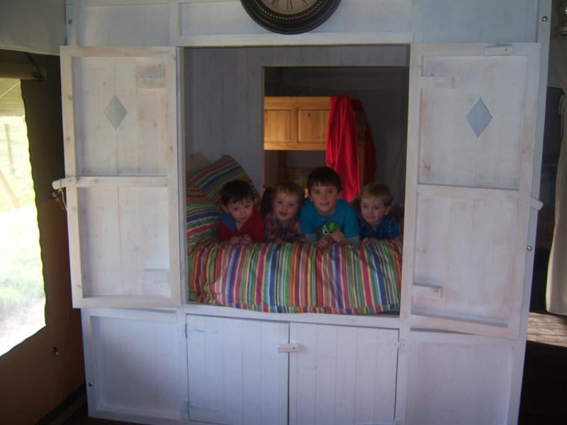 Cupboard bed, popular with children of all ages!