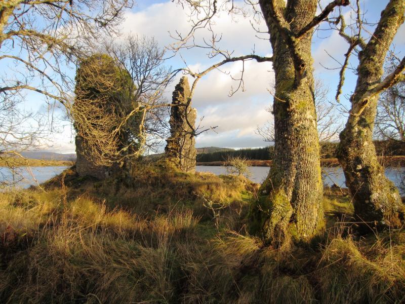 Nearby castle ruins