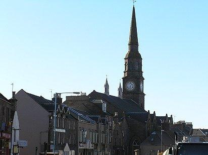 Forfar town with East & Old church