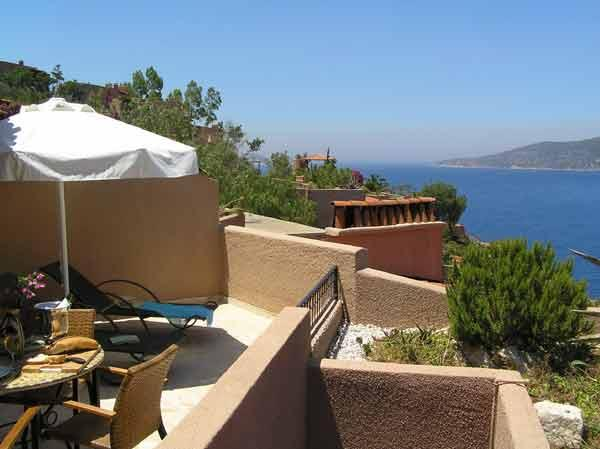 Stunning panoramic views over Kalkan Bay from the large private terrace