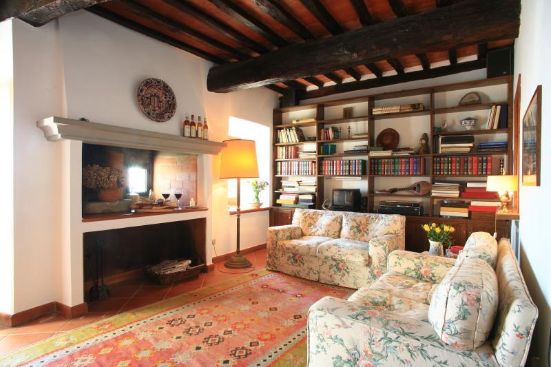 Casa su mura medievali in piccolo borgo toscano, holiday rental in Santa Lucia