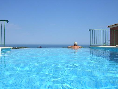 Infinity pool with superb sea views