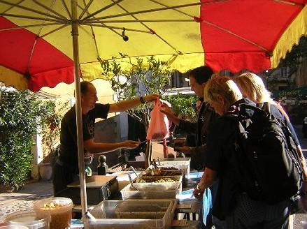 Sample local delicacies in the provencal market