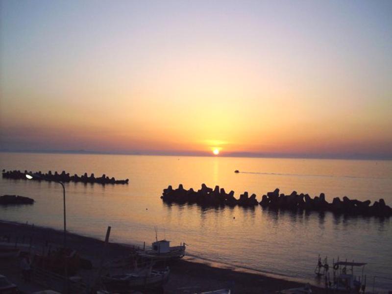 Sunset at the beach in Villafranca