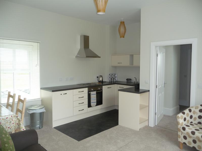 The ground floor annexe kitchen and lounge