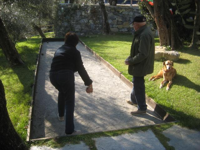 The boules pitch (pétanque)