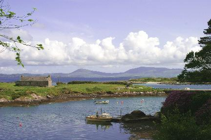 Pier Cottage with Kenmare estuary and beach to row to!