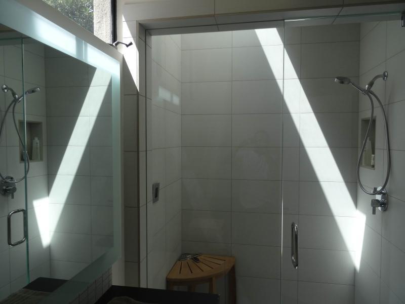 doccia a vapore con lucernario