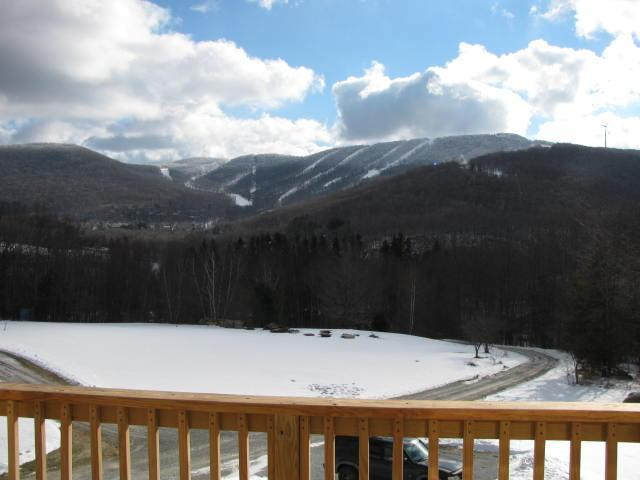 The ski resort from one of the many decks
