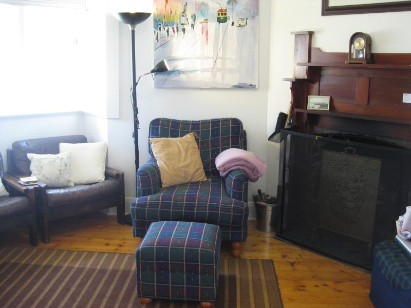 Front Lounge with open fireplace