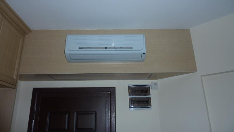 Each room with air con.