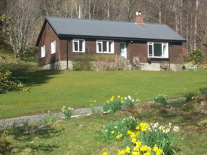 Bungalow in private setting near Aberfeldy, alquiler vacacional en Lawers